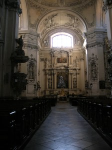 The interior of the Church of the Assumption of the Virgin Mary