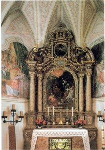 An altar in the church on Fraueninsel