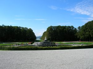 The parterre in the garden