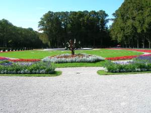 The parterre in the garden