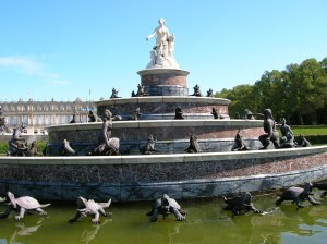 The Latona Fountain in the garden of Herrenchiemsee