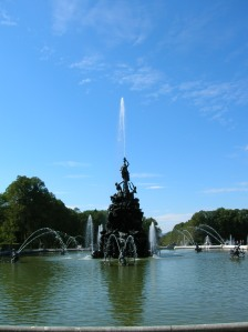 A fountain at Herrenchiemsee Palace