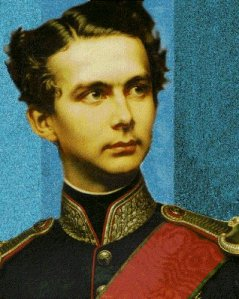 A young King Ludwig II of Bavaria