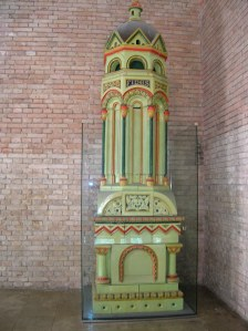 A colorful tiled stove at Neuschwanstein Castle