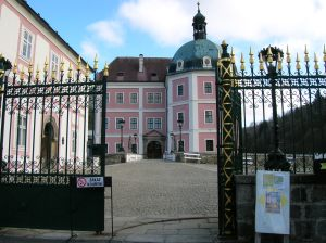 View of the chateau from the front gate