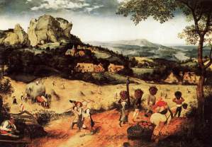 Haymaking by Pieter Bruegel the Elder, 16th century. Photo from www.wga.hu