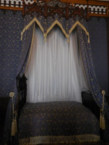 The bed where Emperor Franz Joseph and Crown Prince Rudolf slept