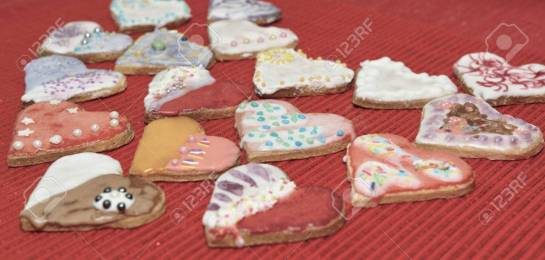 Cookies hearts love.